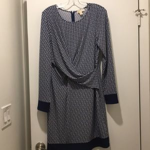 Michael Kors Navy and white dress